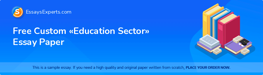 Free Custom «Education Sector» Essay Paper