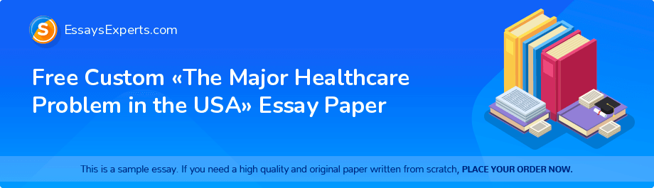 Free Essay Sample «The Major Healthcare Problem in the USA»