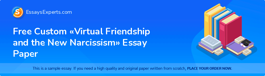 Free Essay Sample «Virtual Friendship and the New Narcissism»