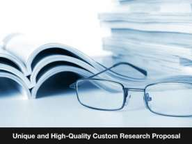 High-Quality Custom Research Proposal Writing